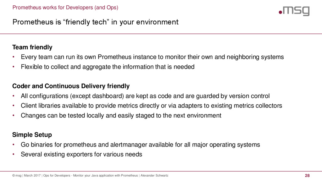 Prometheus works for Developers (and Ops) Prome...