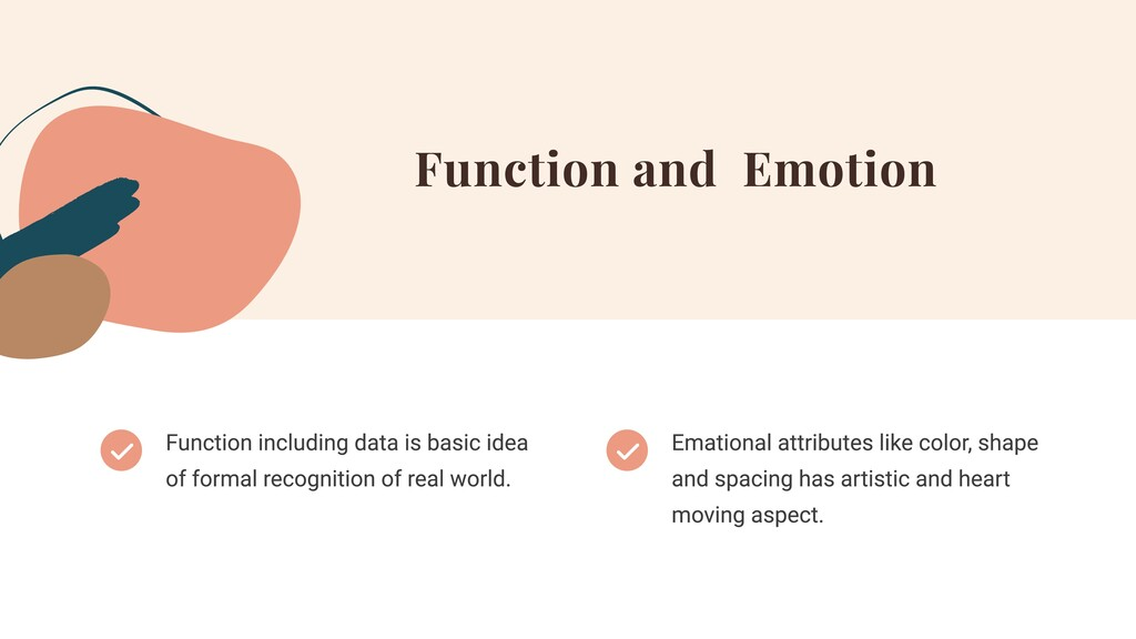 Function and Emotion Function including data is...