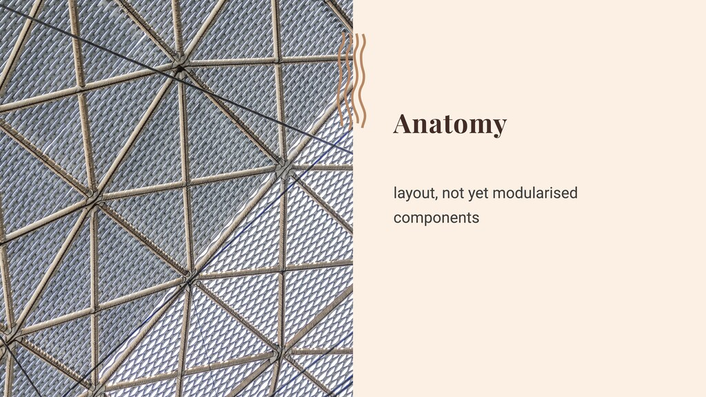 Anatomy layout, not yet modularised components