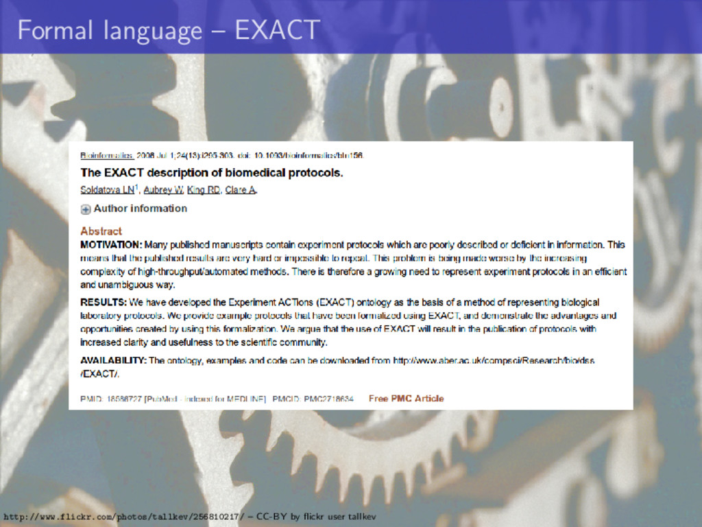 Formal language – EXACT http://www.flickr.com/p...