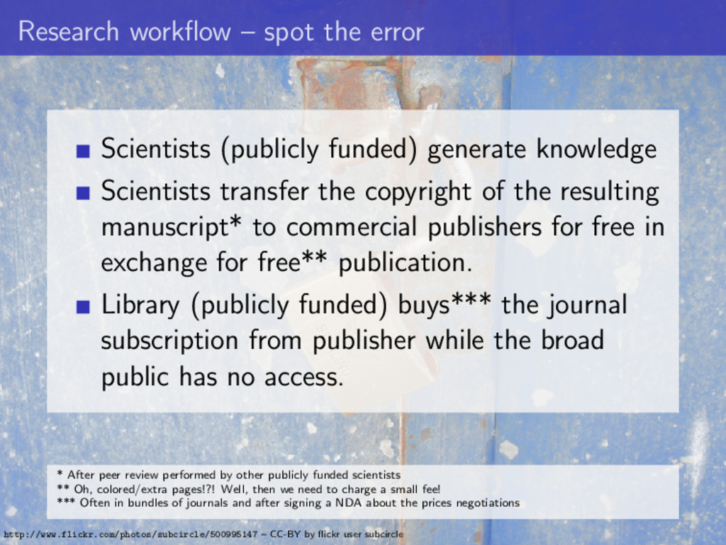 Research workflow – spot the error Scientists (p...