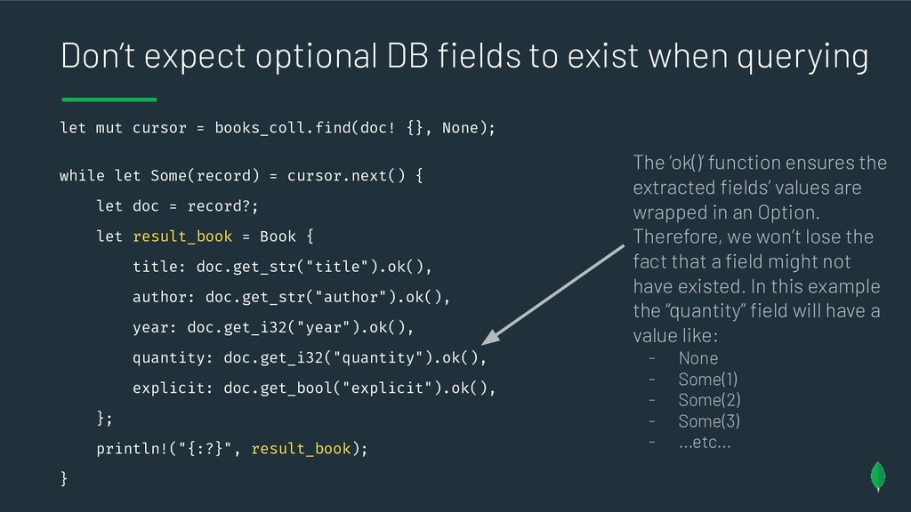 Don't expect optional DB fields to exist when qu...