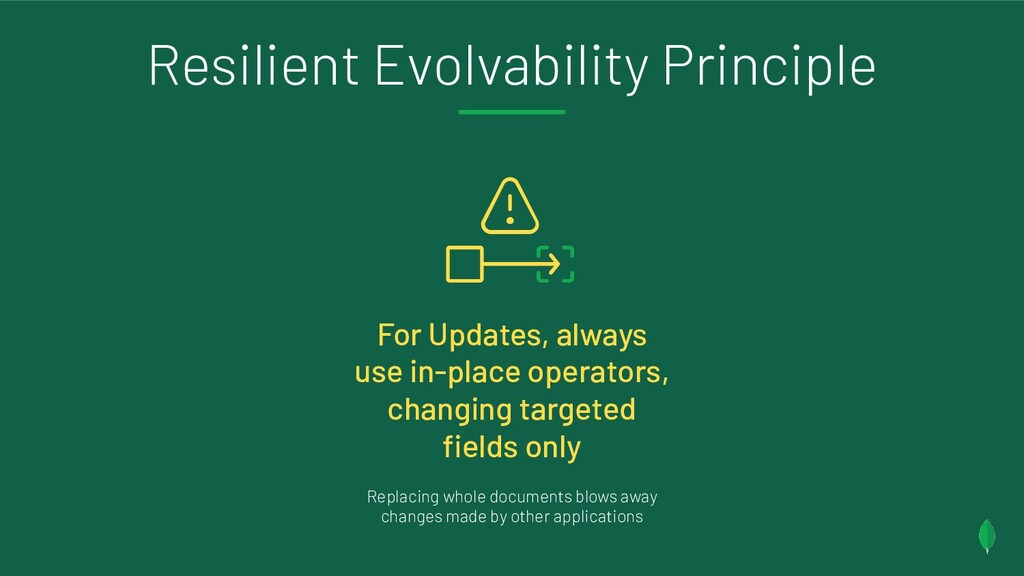Resilient Evolvability Principle For Updates, a...