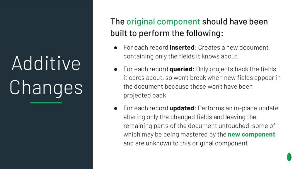 The original component should have been built t...