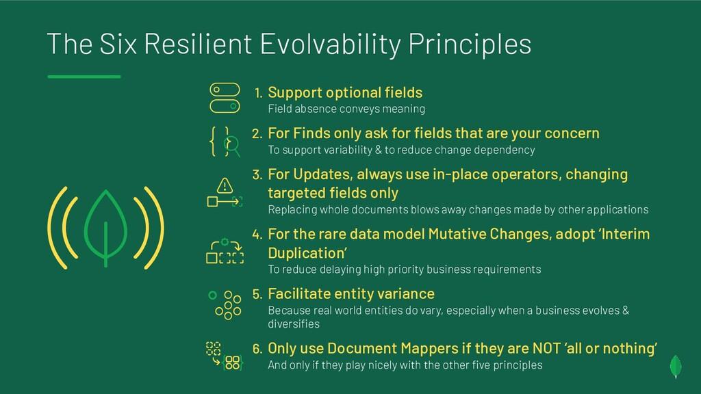 The Six Resilient Evolvability Principles 1. Su...
