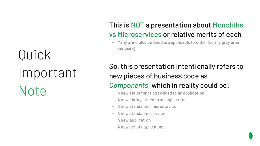 Quick Important Note This is NOT a presentation...