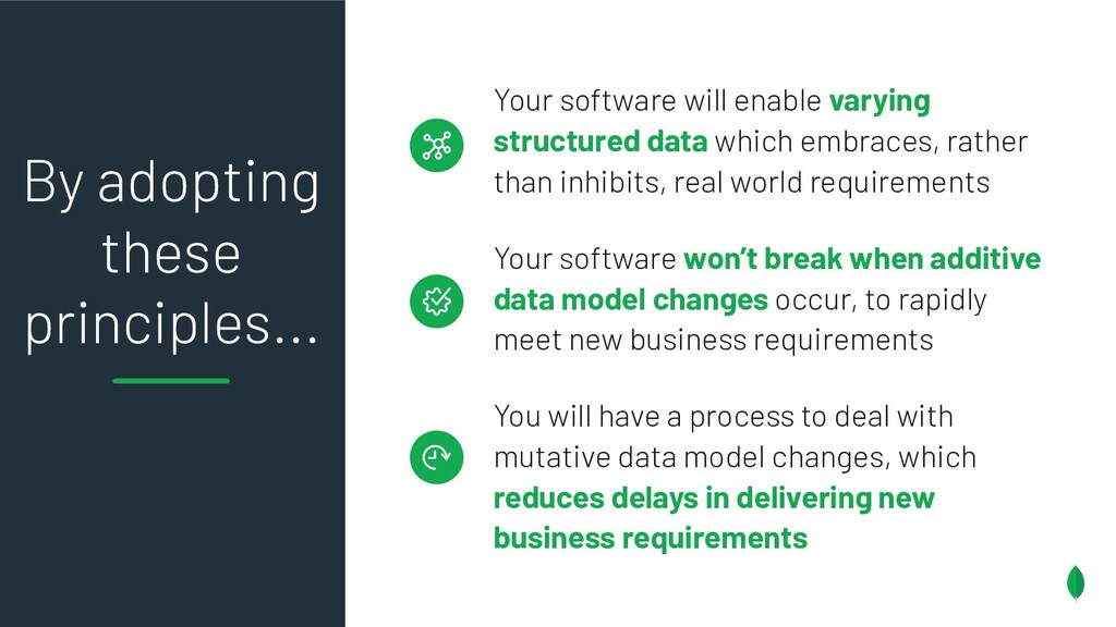 Your software will enable varying structured da...
