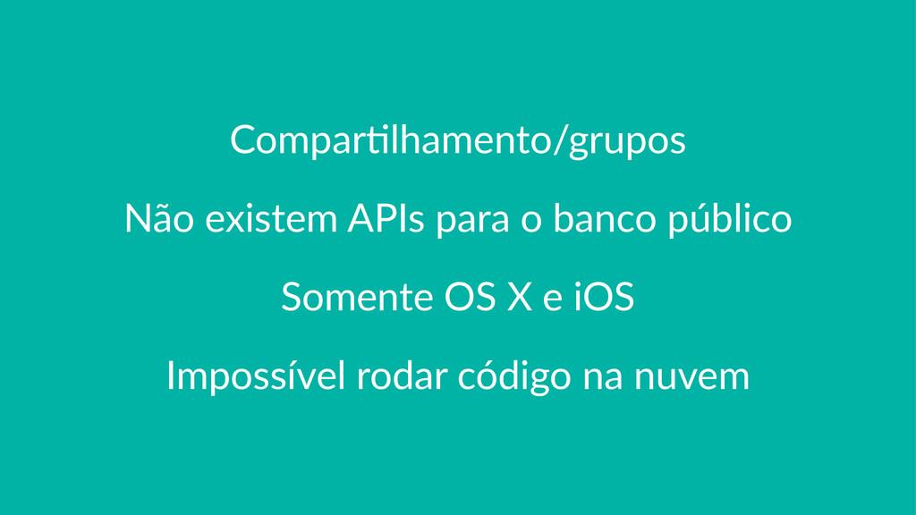 Compar'lhamento/grupos Não$existem$APIs$para$o$...