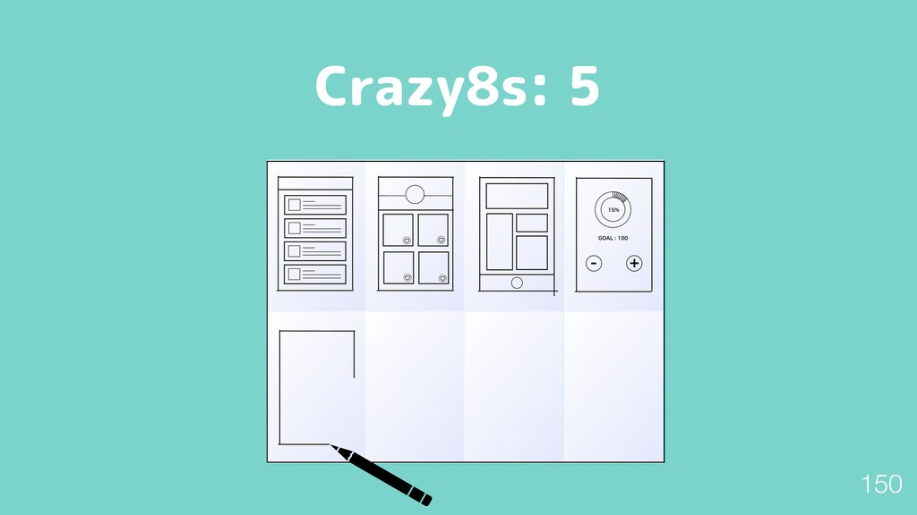 "Crazy8s: 5  (0""-   150"