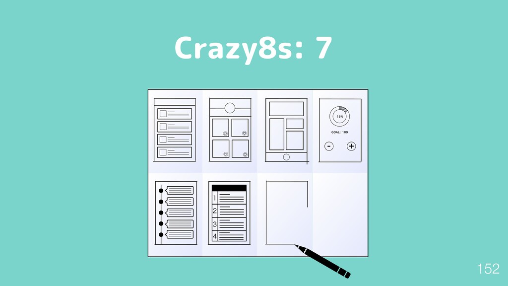 "Crazy8s: 7  (0""-       152"