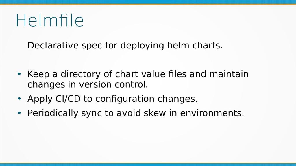 Helmfile Declarative spec for deploying helm ch...