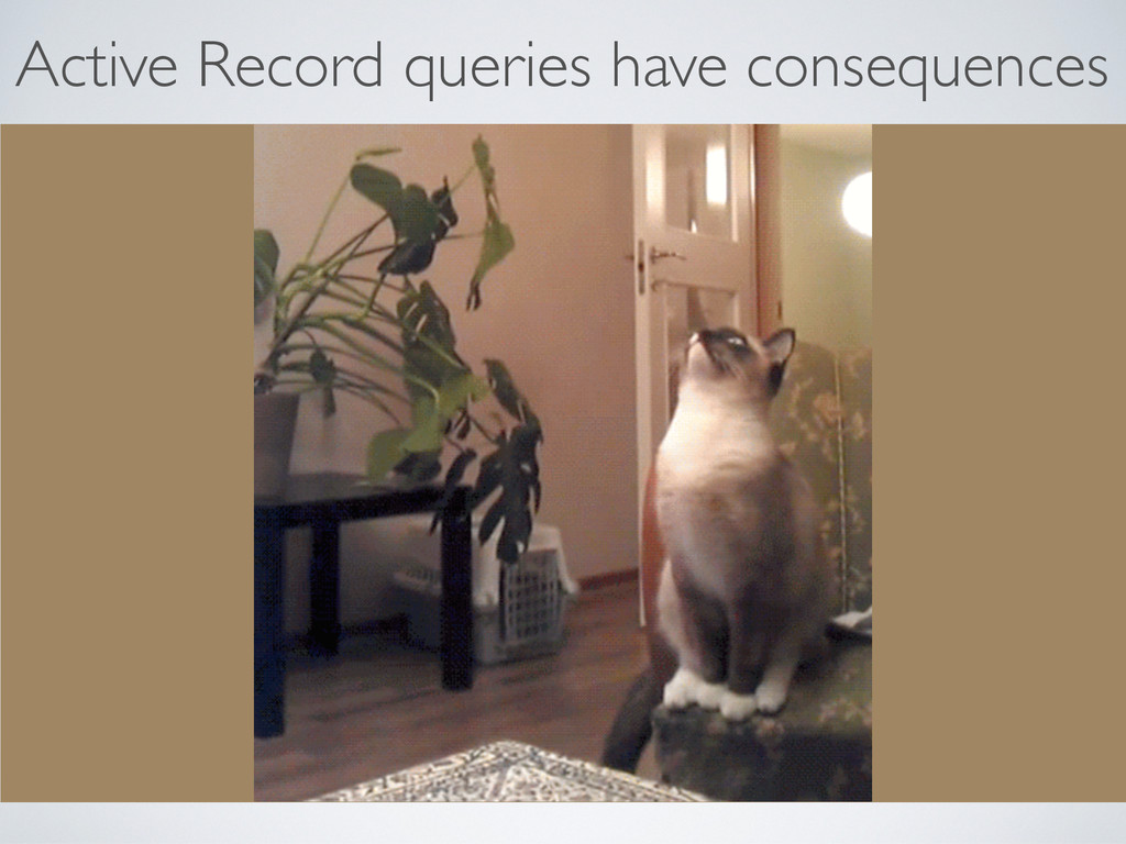 Active Record queries have consequences