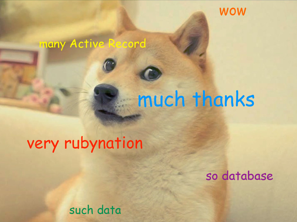 much thanks so database many Active Record very...