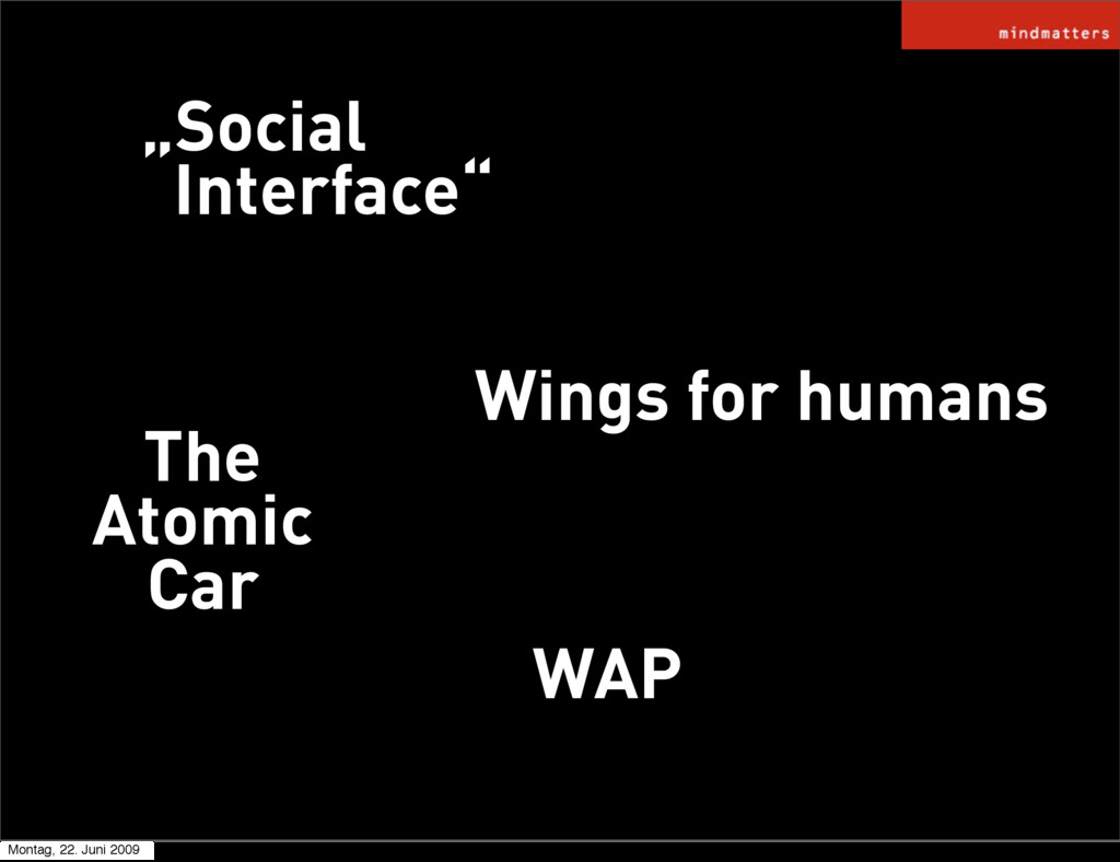 """WAP """"Social Interface"""" Wings for humans The Ato..."""