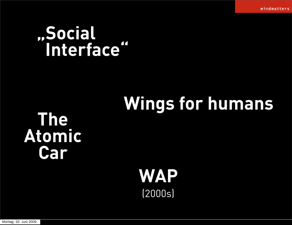 """WAP """"Social Interface"""" Wings for humans (2000s)..."""