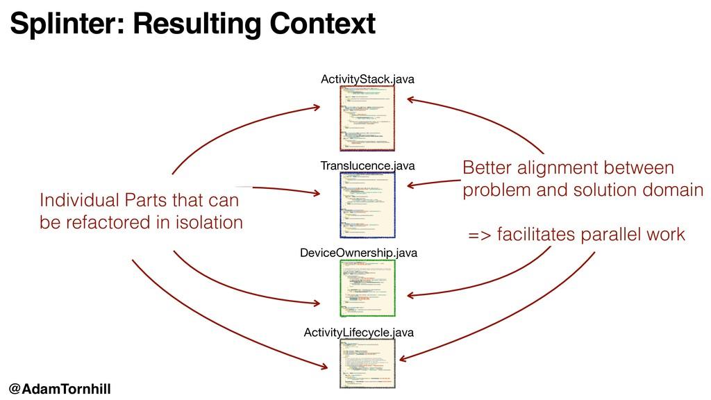 Splinter: Resulting Context ActivityStack.java ...