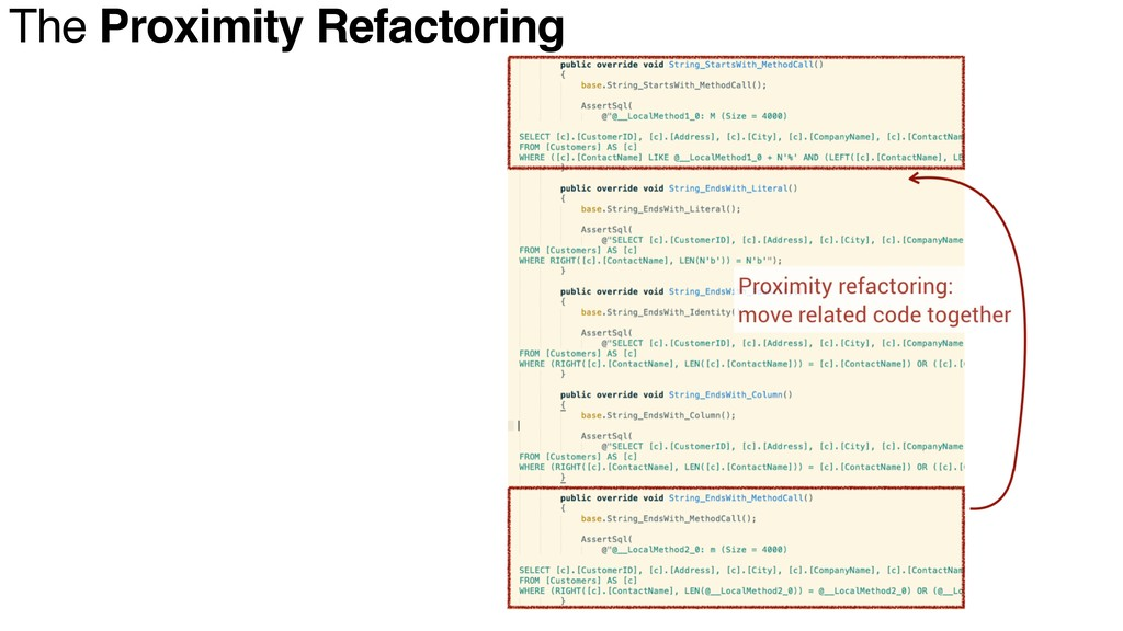 The Proximity Refactoring