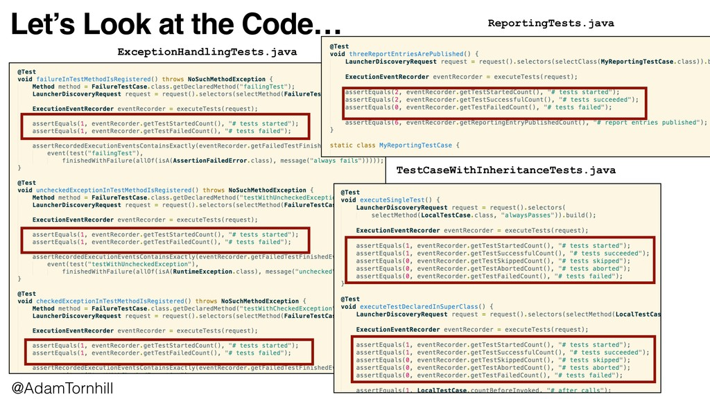 Let's Look at the Code… ExceptionHandlingTests....