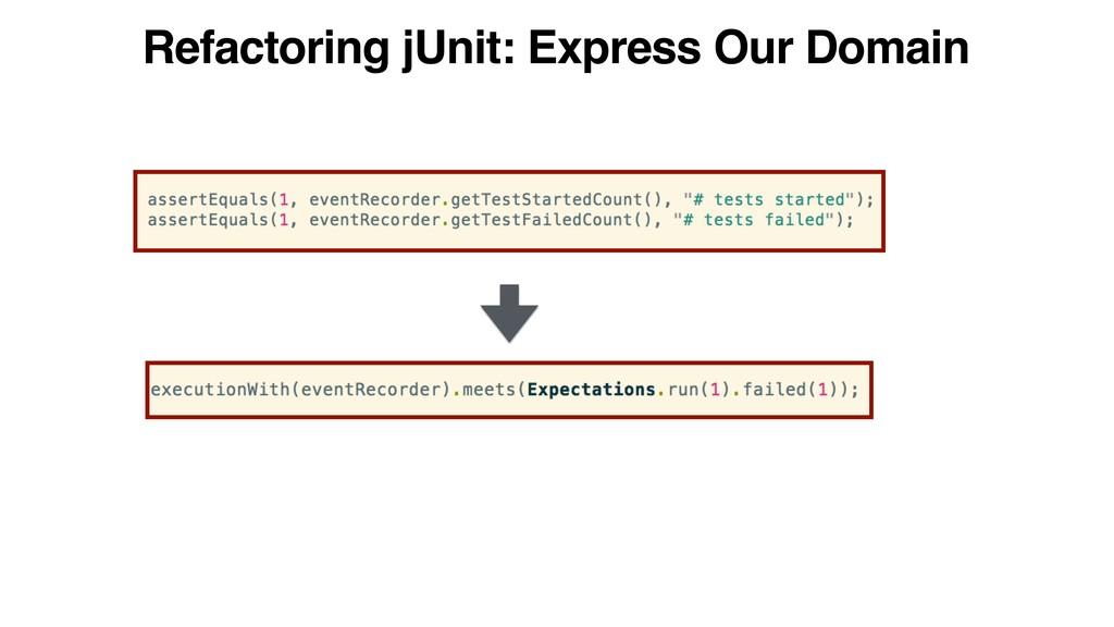 Refactoring jUnit: Express Our Domain