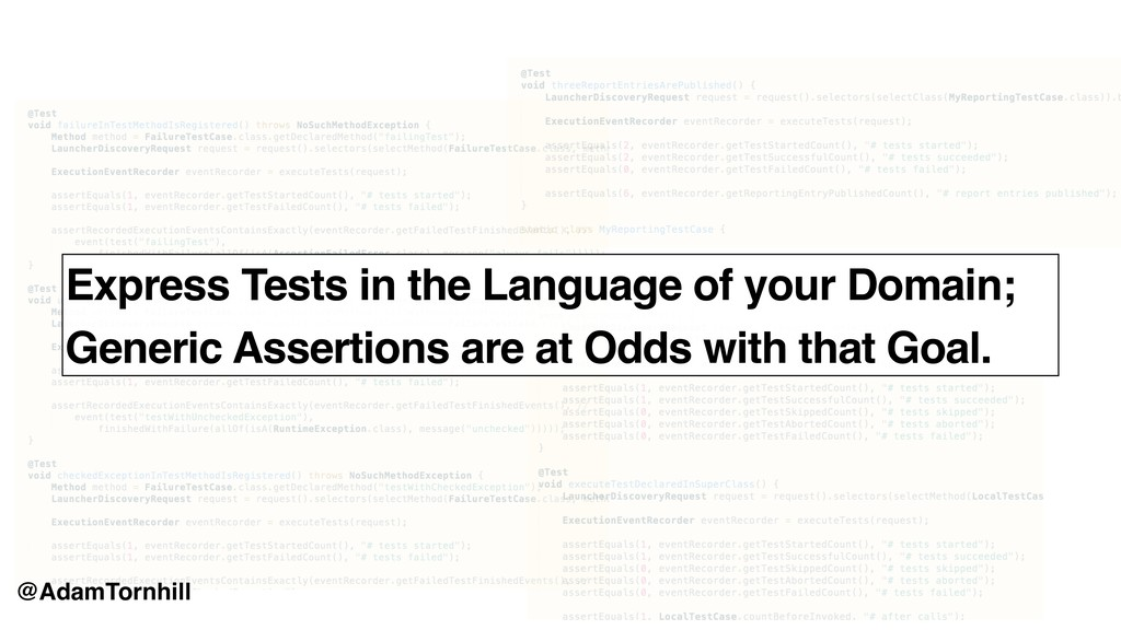 Express Tests in the Language of your Domain; G...