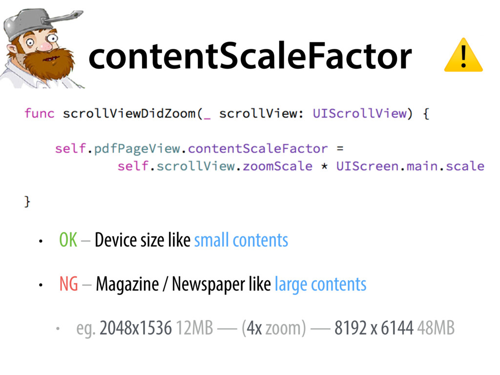 contentScaleFactor • OK – Device size like smal...