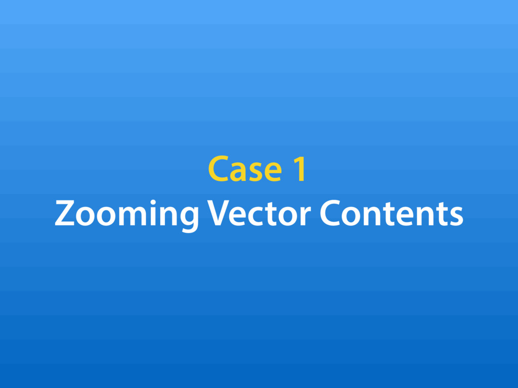 Case 1 Zooming Vector Contents