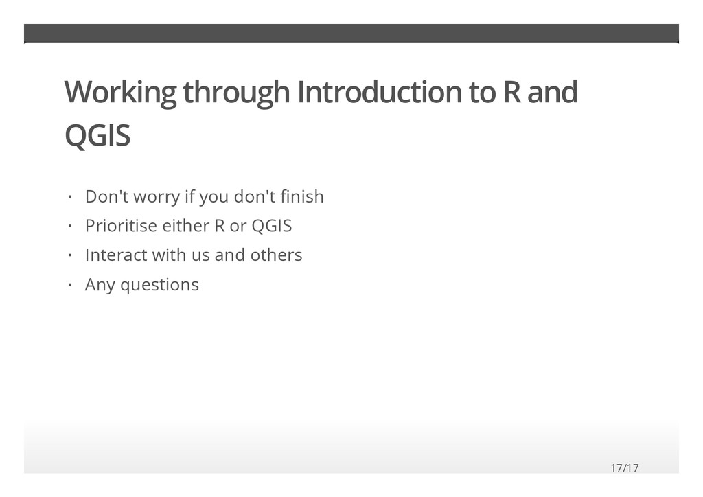 Working through Introduction to R and QGIS Don'...