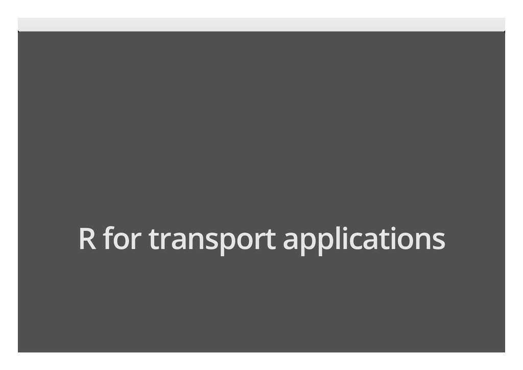 6/17 R for transport applications