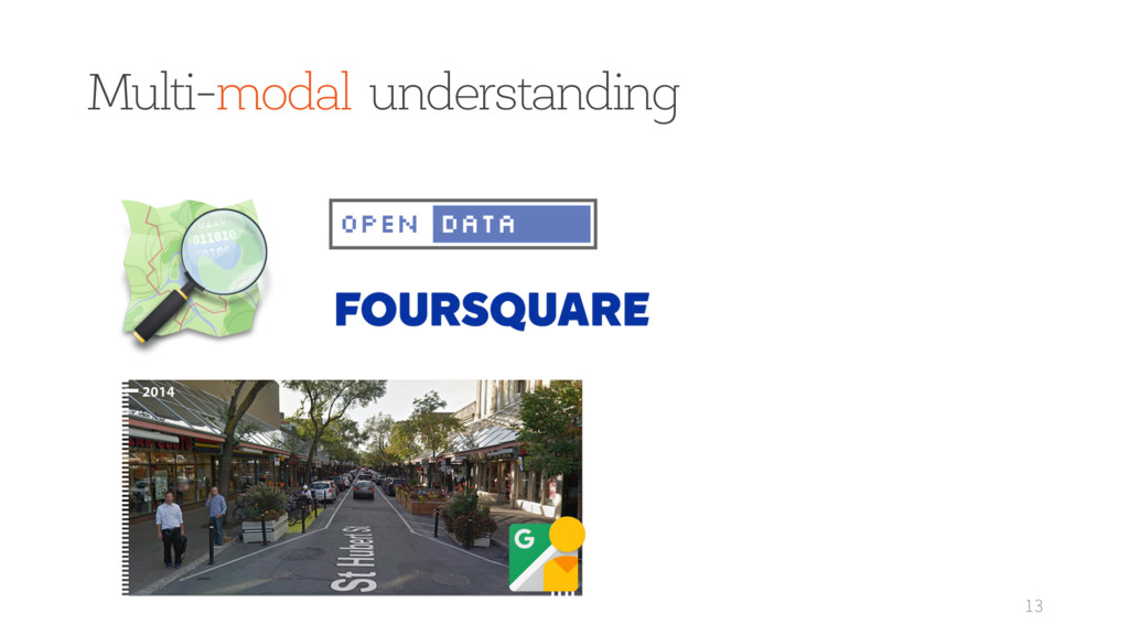 Multi-modal understanding 13