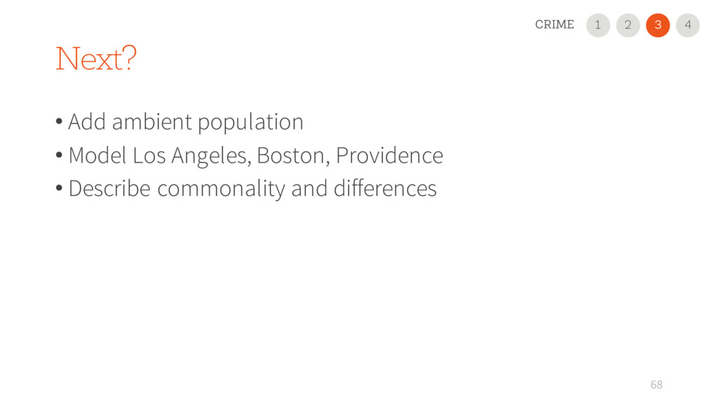 Next? 68 4 • Add ambient population • Model Los...