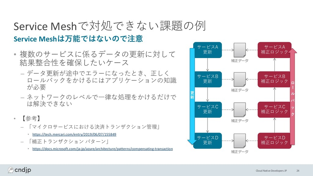 Cloud Native Developers JP Service Meshで対処できない課...