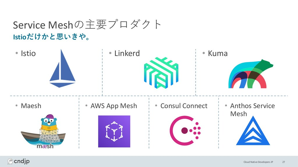 Cloud Native Developers JP 27 Istioだけかと思いきや。 Se...