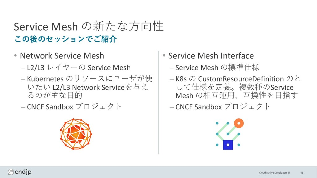 Cloud Native Developers JP • Network Service Me...