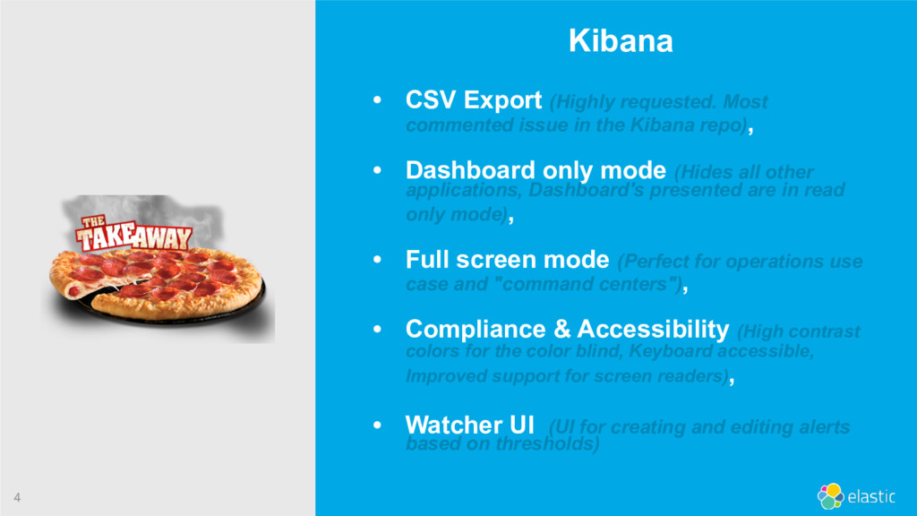 4 Kibana • CSV Export (Highly requested. Most c...