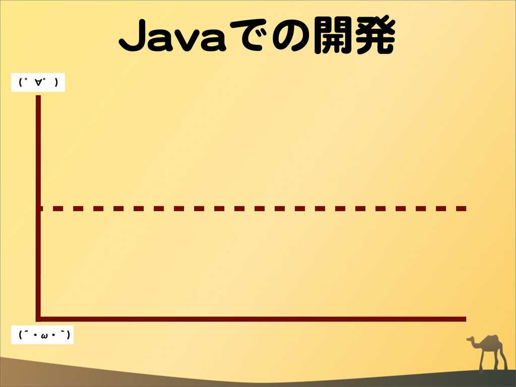JJaavvaaでの開発 ((  ゜∀゜  )) ((´・ω・`))