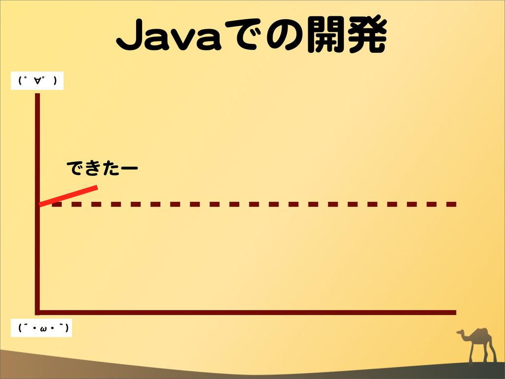 JJaavvaaでの開発 できたー ((  ゜∀゜  )) ((´・ω・`))