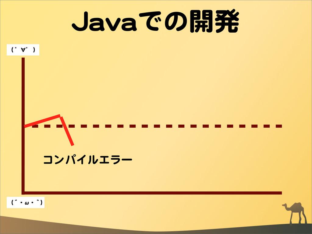 JJaavvaaでの開発 コンパイルエラー ((  ゜∀゜  )) ((´・ω・`))