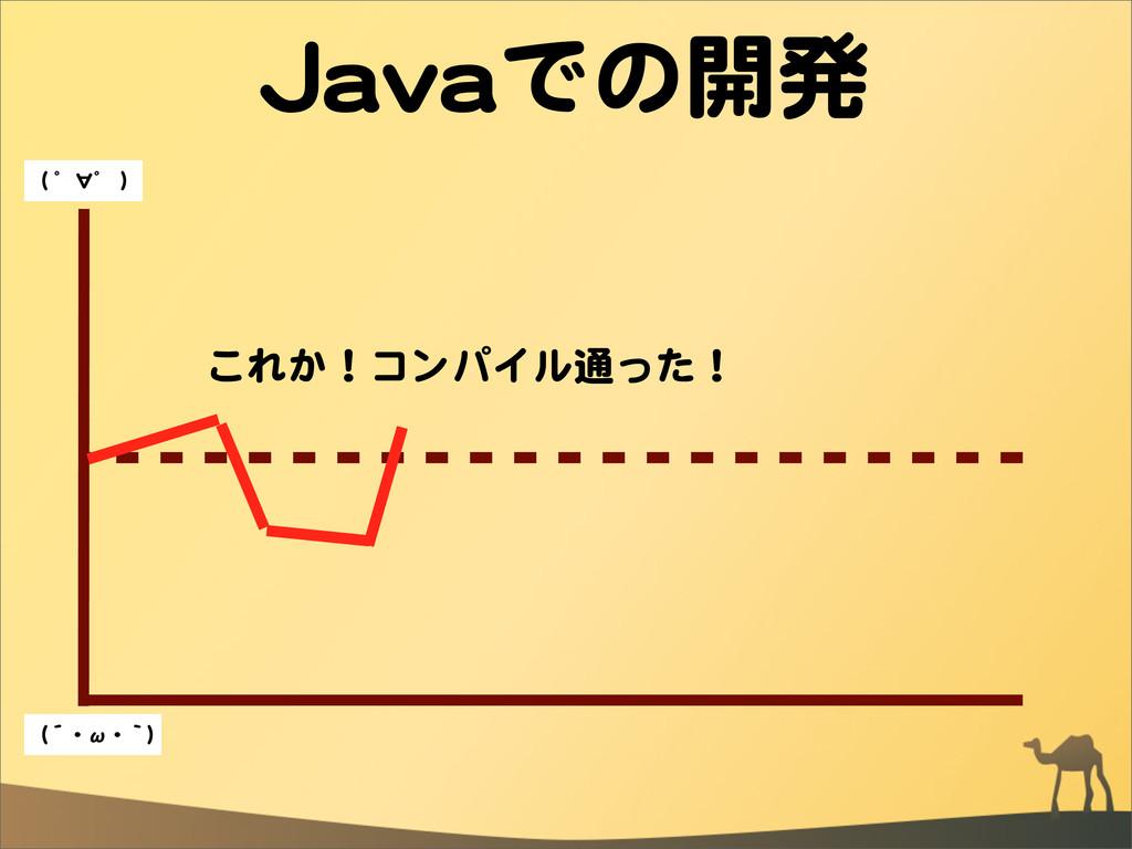 JJaavvaaでの開発 これか!コンパイル通った! ((  ゜∀゜  )) ((´・ω・`))
