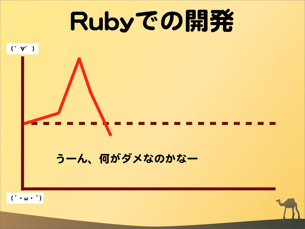 RRuubbyyでの開発 うーん、何がダメなのかなー ((  ゜∀゜  )) ((´・ω・`))