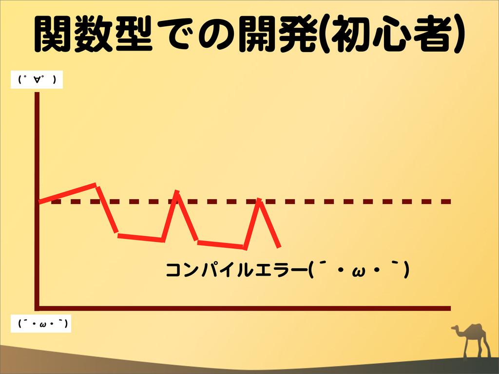 関数型での開発((初心者)) コンパイルエラー((´・ω・`)) ((  ゜∀゜  )) ((...