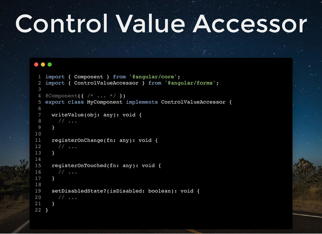 Control Value Accessor import { Component } fro...
