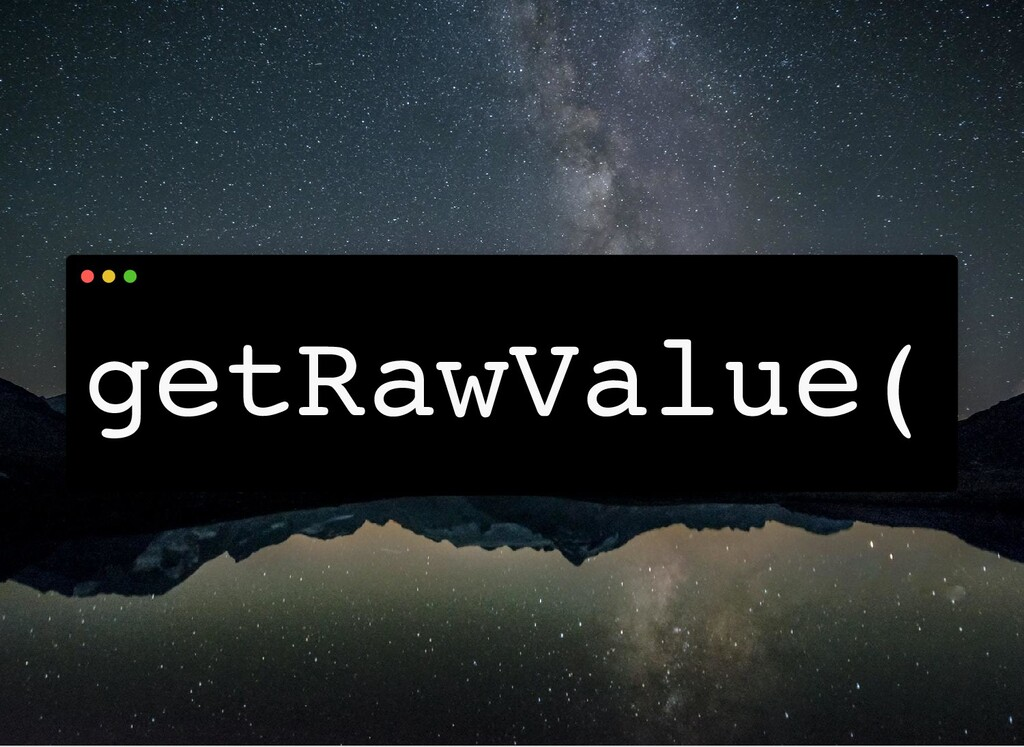 getRawValue(