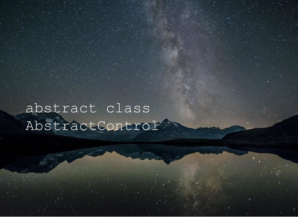 abstract class AbstractControl