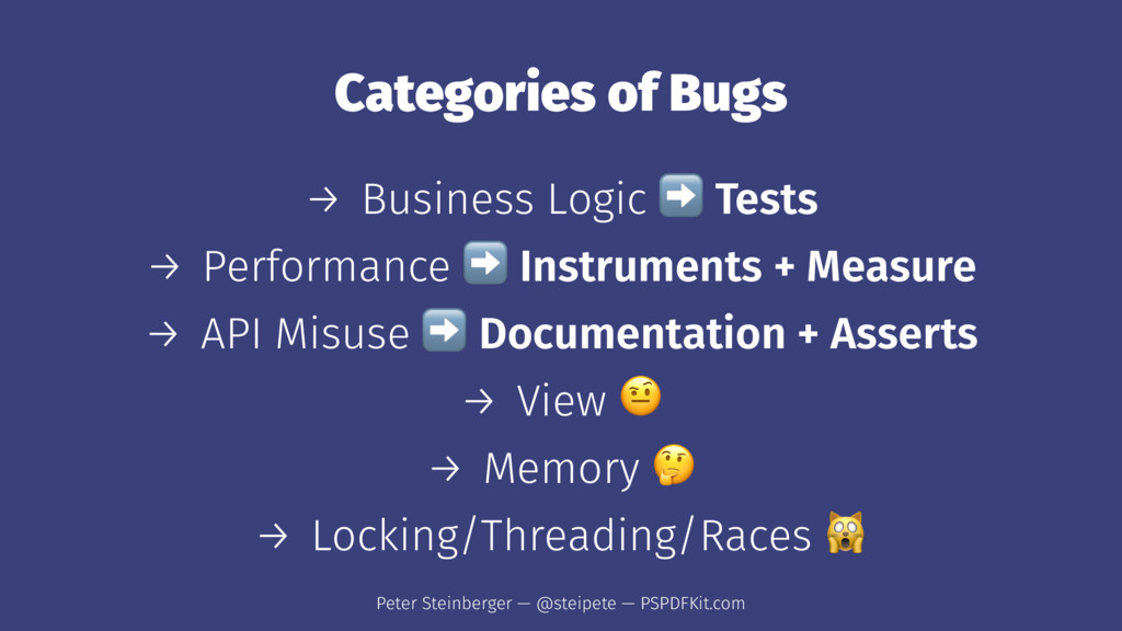 Categories of Bugs → Business Logic Tests → Per...