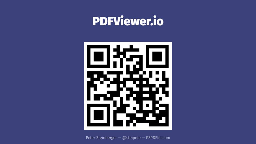 PDFViewer.io Peter Steinberger — @steipete — PS...