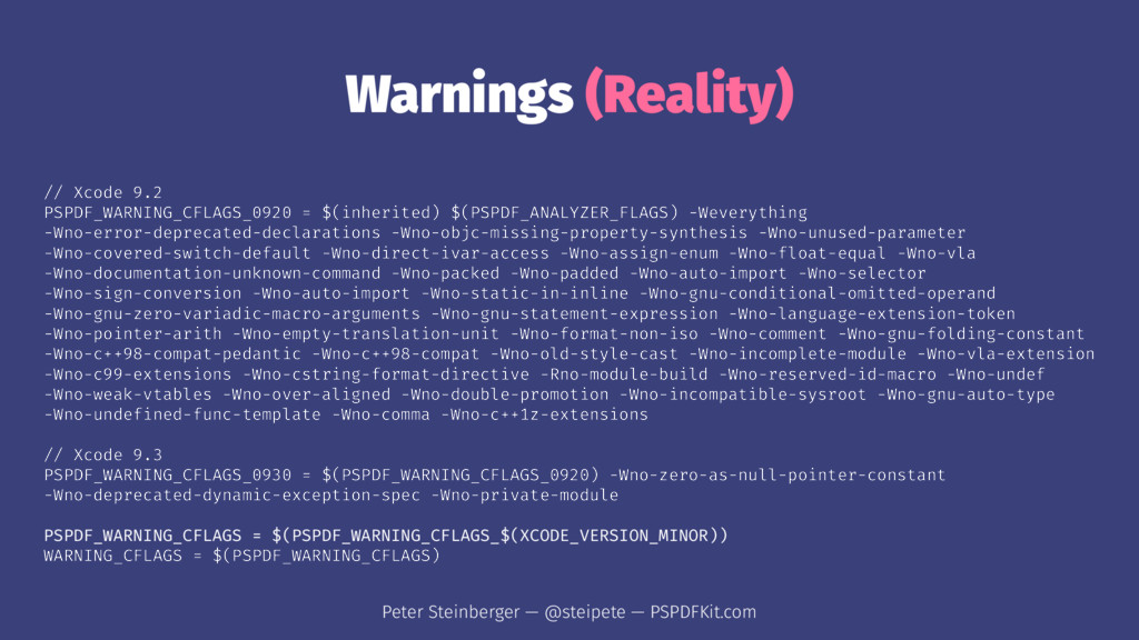 Warnings (Reality) // Xcode 9.2 PSPDF_WARNING_C...
