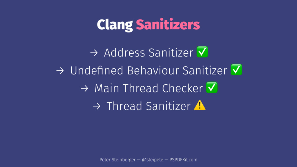 Clang Sanitizers → Address Sanitizer → Undefined...