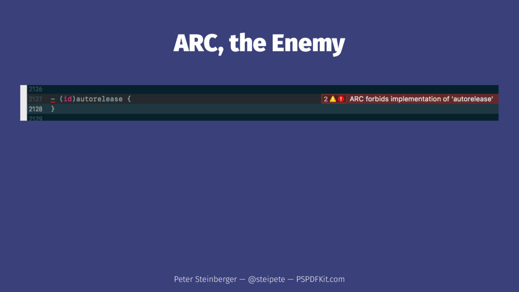 ARC, the Enemy Peter Steinberger — @steipete — ...