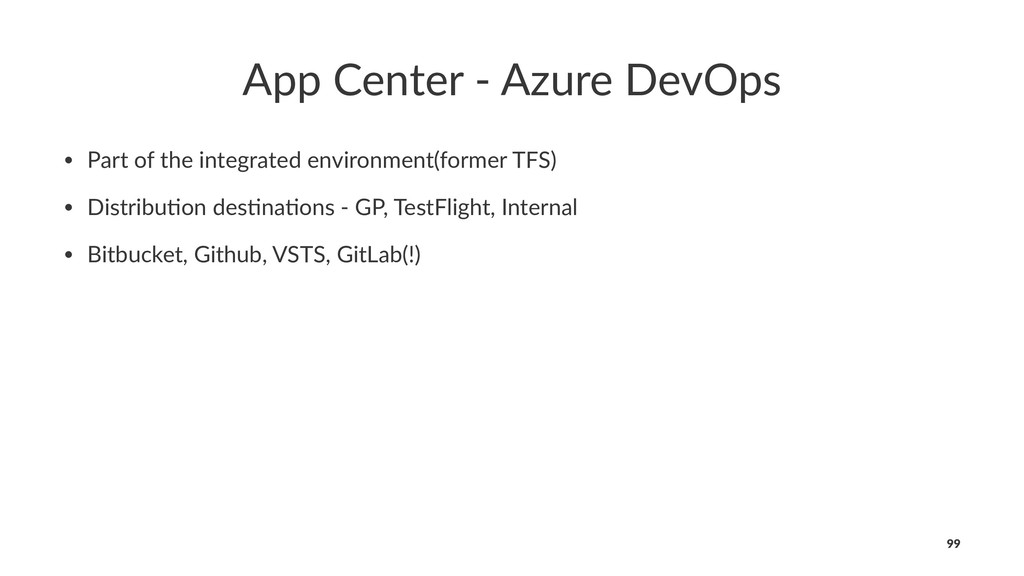 App Center - Azure DevOps • Part of the integra...