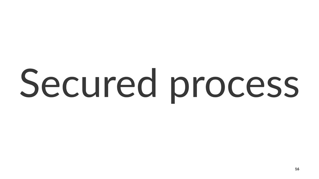 Secured process 16